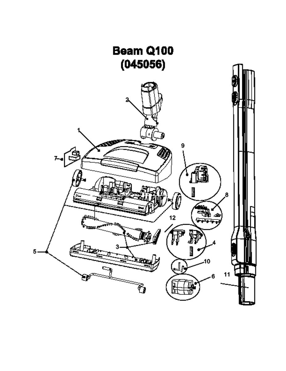 Electrolux Vacuum Parts